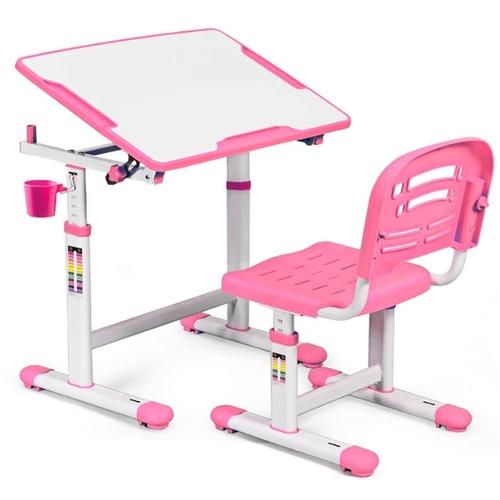 Комплект парта и стульчик Evo-kids Evo-07 бело-розовый Mealux