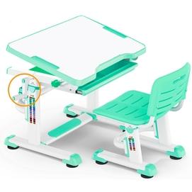 Комплект парта и стульчик Evo-Kids BD-08 бело-бирюзовый Mealux