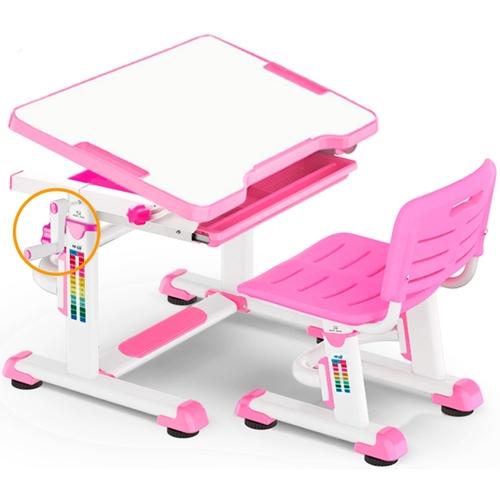 Комплект парта и стульчик Evo-Kids BD-08 бело-розовый Mealux
