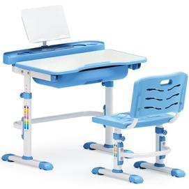 Комплект парта и стульчик Evo-kids Evo-17 (без лампы) бело-голубой Mealux