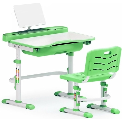 Комплект парта и стульчик Evo-kids Evo-17 (без лампы) бело-зеленый Mealux