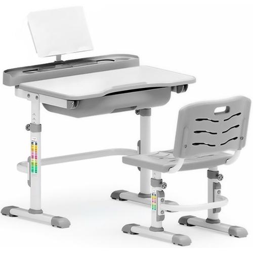 Комплект парта и стульчик Evo-kids Evo-17 (без лампы) бело-серый Mealux