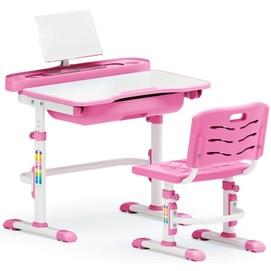 Комплект парта и стульчик Evo-kids Evo-17 (без лампы) бело-розовый Mealux