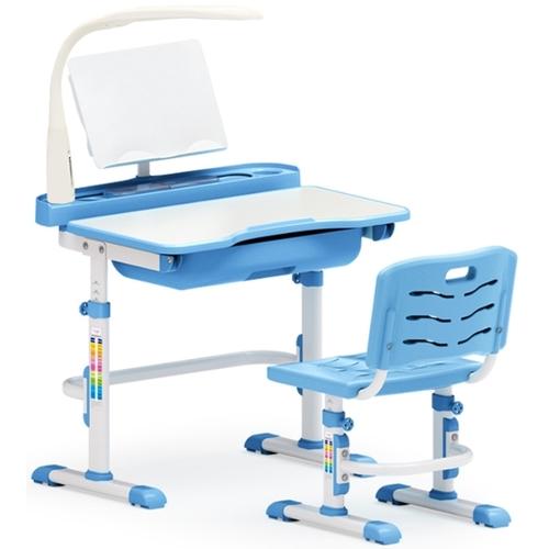 Комплект парта и стульчик Evo-kids Evo-17 (с LED лампой) бело-голубой Mealux