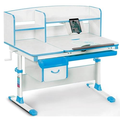 Детский стол (парта) Evo-kids EVO-50 бело-голубой Mealux
