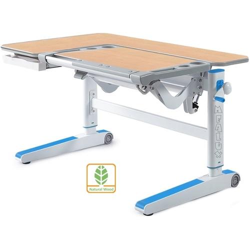 Детский стол (парта) Kingwood D-820 MG/BL клен/серый/голубой Mealux