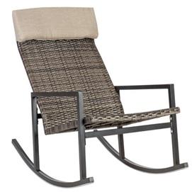 Кресло качалка WICKER 11899 темно-коричневый Garden4You 2020