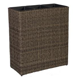 Контейнер для цветов WICKER 35161 темно-коричневый Garden4You 2020