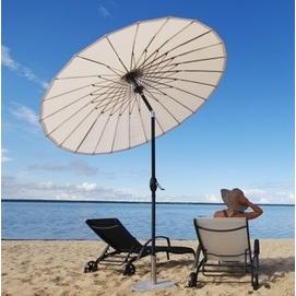 Зонт алюминиевый  ALU-2,5 Shanghai D 2.5м с наклоном купола кремовый OUTDOOR