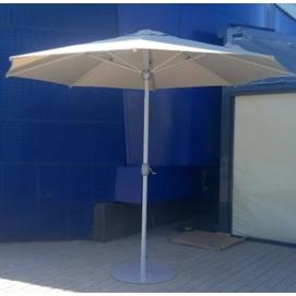 Зонт алюминиевый  ALU-2,5 с металлической подставкой D 2.5м кремовый OUTDOOR