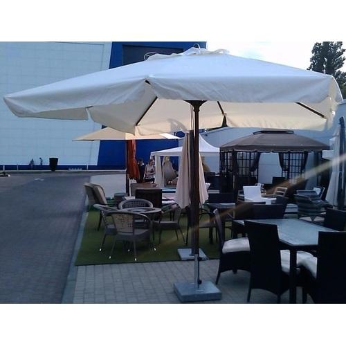 Зонт деревянный Милан 3х3 м без воланов кремовый OUTDOOR