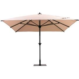 Зонт алюминиевый ALU 3,5х3,5 м с металлической подставкой бежевый OUTDOOR
