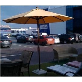 Зонт деревянный Солнце D 4м оранжевый OUTDOOR