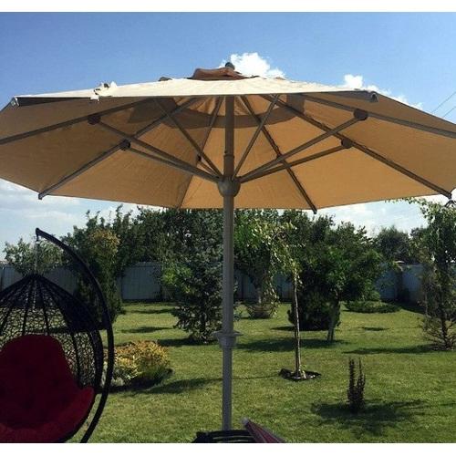 Зонт алюминиевый  ALU-4 с металлическим основанием D 4м бежевый OUTDOOR