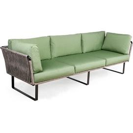 Диван тройка Твист-М лаунж серо-зеленый Pradex