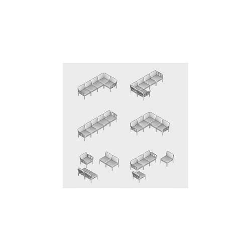 Диван угловой Komodo 5 Agave 40370.16.163 зеленый Nardi