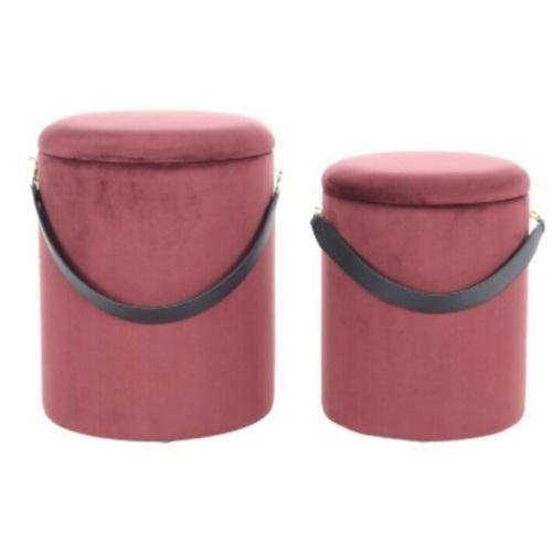 Набор из двух пуфов Arabella WREES красно-коричневый Kayoom