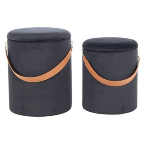 Набор из двух пуфов Arabella WEPPP черный Kayoom