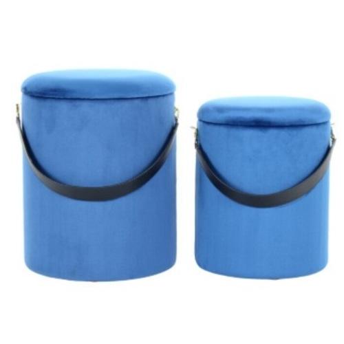 Набор из двух пуфов Arabella 3WUAZ синий Kayoom