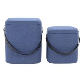Набор из двух пуфов Arabella A8WZD синий Kayoom