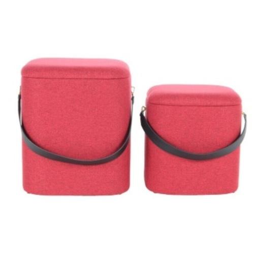 Набор из двух пуфов Arabella HNM2Z красный Kayoom