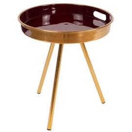 Стол кофейный Morrison IM5C6-PLM золото Kayoom