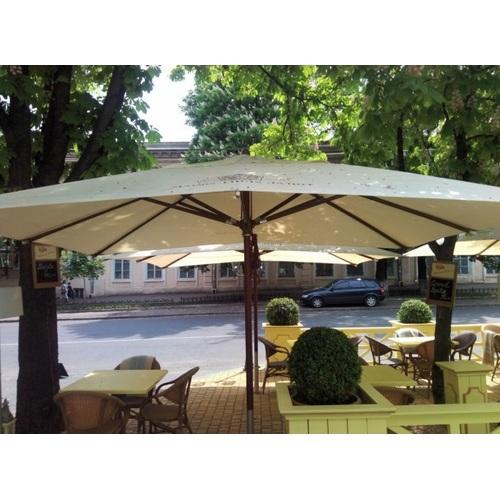 Зонт деревянный Прага Люкс 3х4 м кремовый OUTDOOR