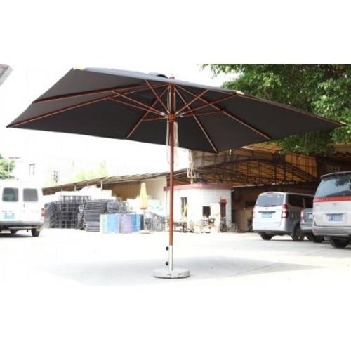 Зонт деревянный Прага Люкс 3х4 м черный OUTDOOR