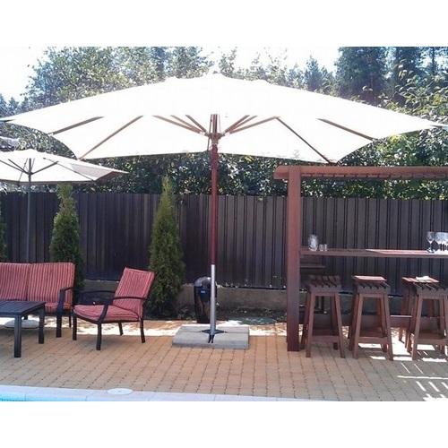 Зонт деревянный Вена 4х4 м кремовый OUTDOOR