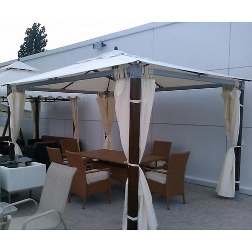 Беседка (шатер) 3,6 х 3,6 м кремовая OUTDOOR