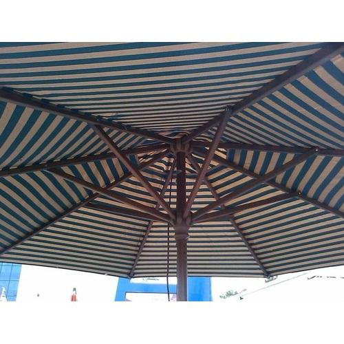 Купол для зонта Де Люкс круглый без воланов полосатый D=3 м OUTDOOR