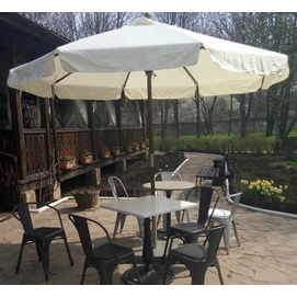 Зонт деревянный Де Люкс с воланами D 3 м кремовый OUTDOOR