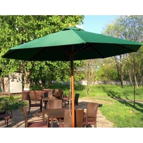 Купол для зонта Де Люкс круглый без воланов зеленый D=3 м OUTDOOR