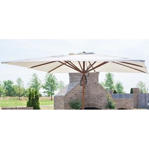 Купол для зонта Милан квадратный 3 х 3 м  без воланов кремовый OUTDOOR