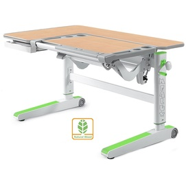 Детский стол (парта) Kingwood D-820 MG/Z клен/серый/зеленый Mealux
