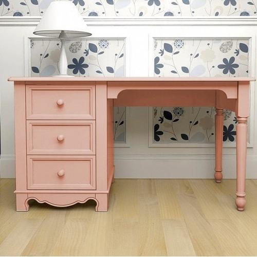 Стол письменный D3 Канон розовый