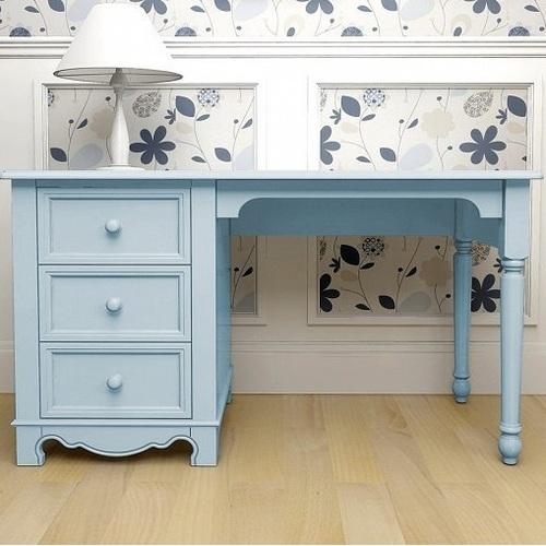 Стол письменный D3 Канон голубой