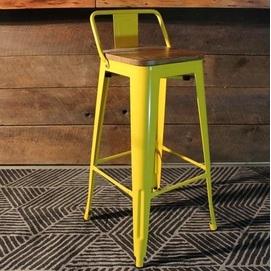 Кресло барное Tolix MC-012К желтый Primel