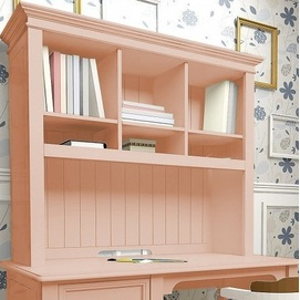 Надстройка D7 (на стол письменный D3) Канон розовая