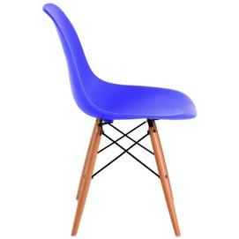 Стул Paris wood Primel синий ноги прозрачные с потертостями!!!