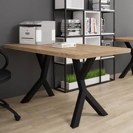 Стол письменный Брайт 160 см коричневый Металл Дизайн