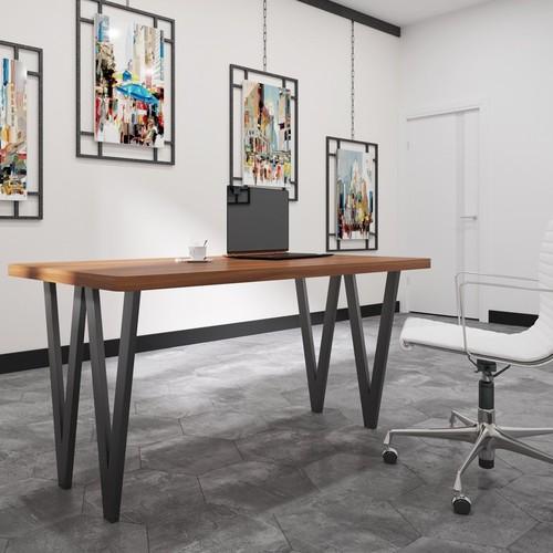 Стол обеденный Ви-4 коричневый Металл Дизайн