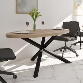 Стол обеденный Айрон 120см черный Металл Дизайн