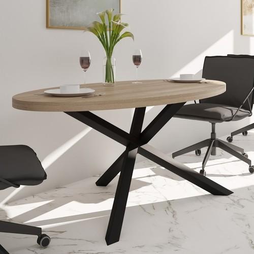 Стол обеденный Айрон 160см черный Металл Дизайн