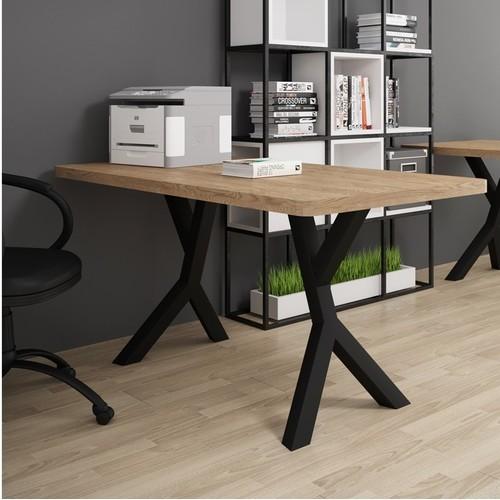 Стол письменный Брайт 120 см коричневый Металл Дизайн