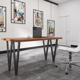 Стол обеденный Ви-4 коричневый 80 см Металл Дизайн