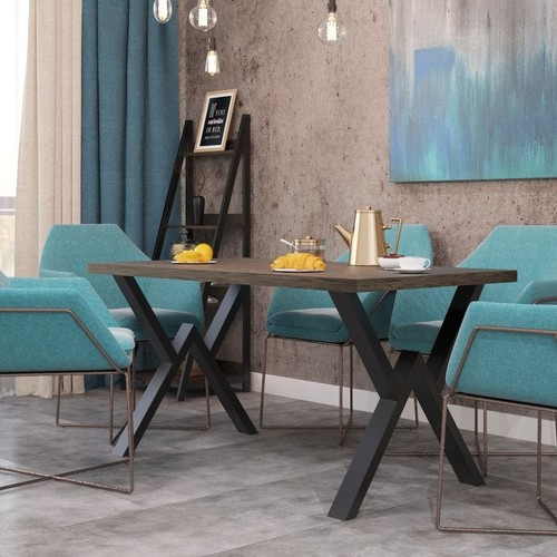 Стол обеденный Виннер 160 см коричневый Металл Дизайн