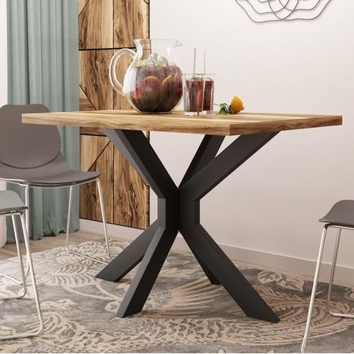 Стол обеденный Кросс 120см коричневый Металл Дизайн