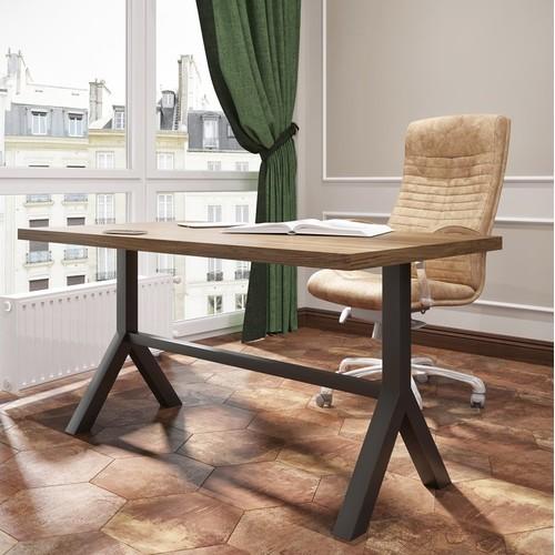 Стол письменный Лекс 120см коричневый Металл Дизайн