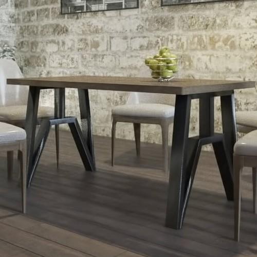 Стол обеденный Прайм 160см коричневый Металл Дизайн